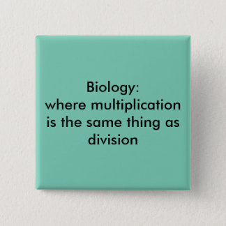 Biology 15 Cm Square Badge