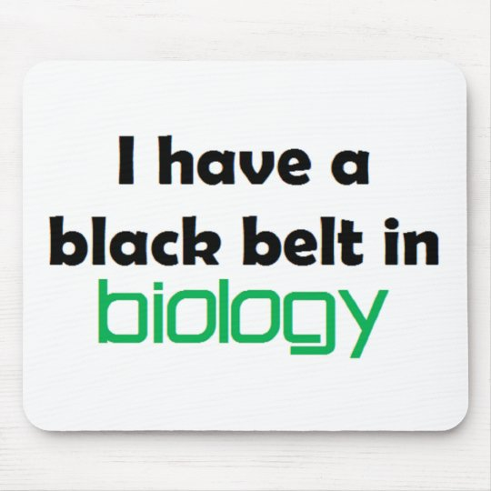 Biology black belt mouse mat
