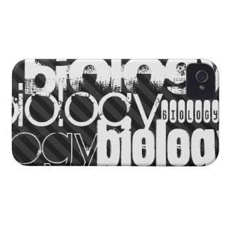 Biology; Black & Dark Gray Stripes iPhone 4 Case-Mate Case