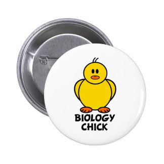 Biology Chick 6 Cm Round Badge