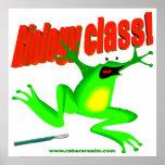 Biology class frog