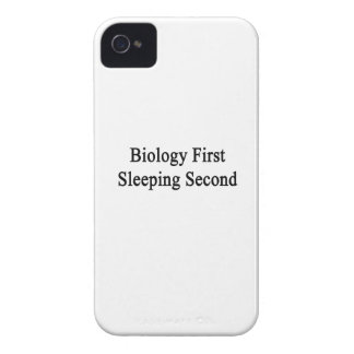 Biology First Sleeping Second Case-Mate iPhone 4 Cases