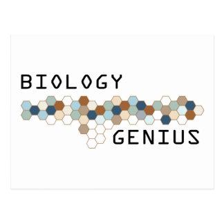 Biology Genius Postcard