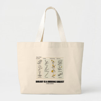 Biology Is A Budding Subject (Types Of Buds) Jumbo Tote Bag