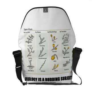 Biology Is A Budding Subject (Types Of Buds) Commuter Bags