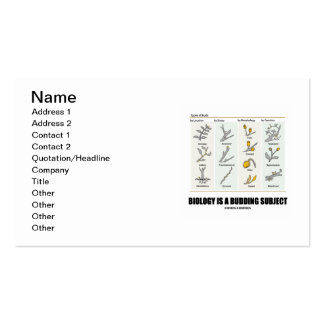 Biology Is A Budding Subject (Types Of Buds) Pack Of Standard Business Cards