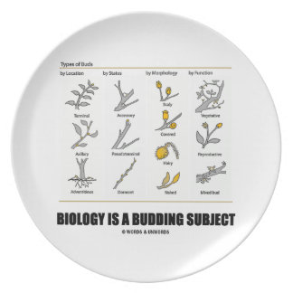 Biology Is A Budding Subject (Types Of Buds) Party Plates