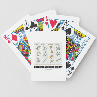 Biology Is A Budding Subject (Types Of Buds) Poker Deck