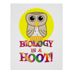 Biology is a Hoot - Starting at $11.80 Poster