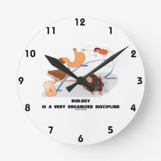 Biology Is A Very Organized Discipline Wall Clock