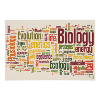 Biology Latte Wordle Poster