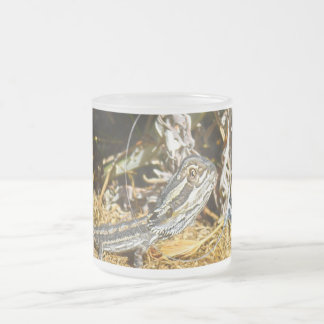 Biology_Of_Baby_Bearded_Dragon_Frosted_Glass_Mug Frosted Glass Coffee Mug