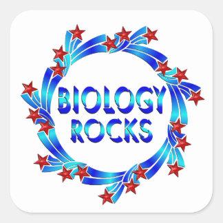 Biology Rocks Fun Square Sticker