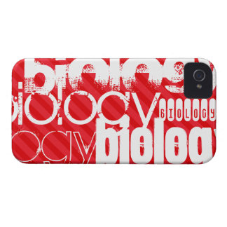 Biology; Scarlet Red Stripes iPhone 4 Case-Mate Case