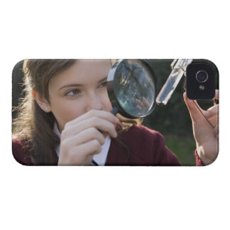 Biology student studying plant iPhone 4 Case-Mate cases