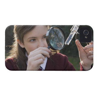 Biology student studying plant iPhone 4 covers