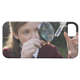 Biology student studying plant iPhone 5 cases