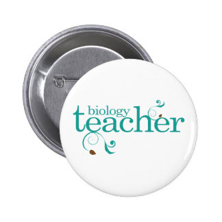 Biology Teacher 6 Cm Round Badge