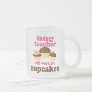 Biology Teacher (Funny) Gift Frosted Glass Coffee Mug