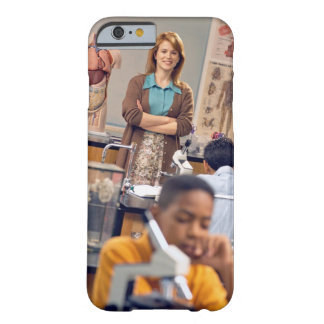Biology teacher standing in class barely there iPhone 6 case