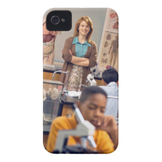 Biology teacher standing in class Case-Mate iPhone 4 cases