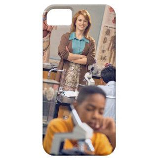 Biology teacher standing in class iPhone 5 cover