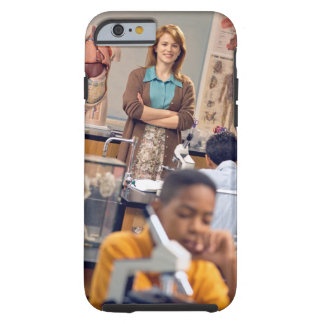 Biology teacher standing in class tough iPhone 6 case
