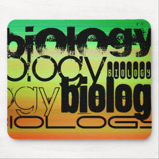 Biology; Vibrant Green, Orange, & Yellow Mouse Pad