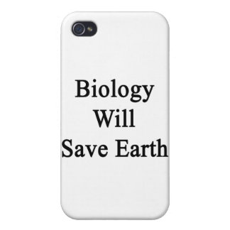 Biology Will Save Earth Cover For iPhone 4