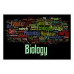 Biology Wordle No. 8 Black Poster