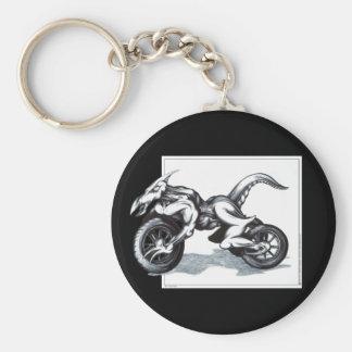 Biomechanical Draconic Trike Basic Round Button Key Ring