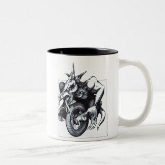Biomechanical Draconic Unicycle Coffee Mug