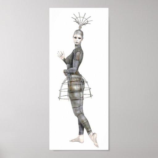 Biomechannequin Woman 2 - 3D Goth Mannequin Posters