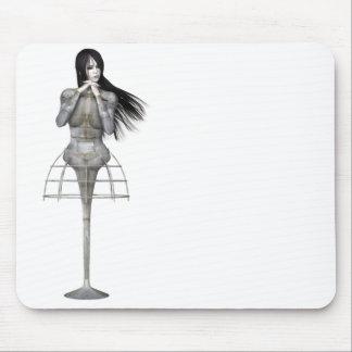 Biomechannequin Woman 3 - 3D Goth Mannequin Mousepad