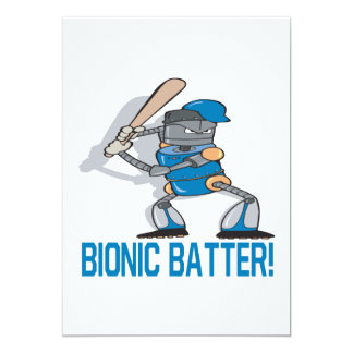 Bionic Batter 13 Cm X 18 Cm Invitation Card