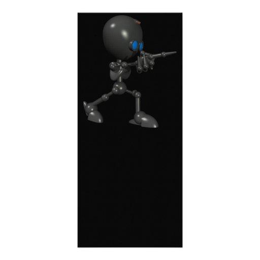 Bionic Boy 3D Robot - Finger Guns - Original Rack Cards