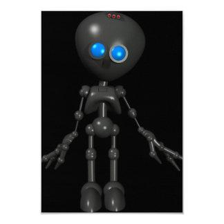 Bionic Boy 3D Robot - Looking Forward 9 Cm X 13 Cm Invitation Card