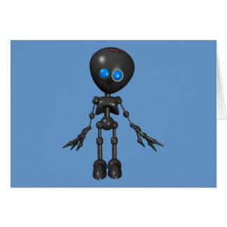Bionic Boy 3D Robot - Looking Forward Greeting Card