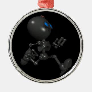 Bionic Boy 3D Robot - Running - Original Silver-Colored Round Decoration