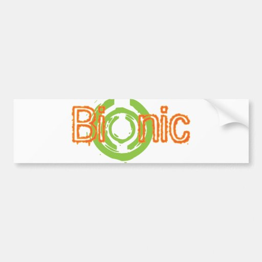 Bionic Edgy Logo Tees and Gifts Bumper Sticker