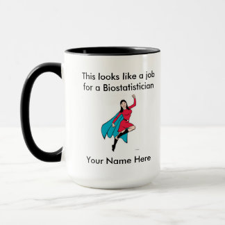 Biostatistician Female Superhero Mug