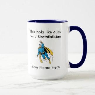 Biostatistician Male Superhero Mug