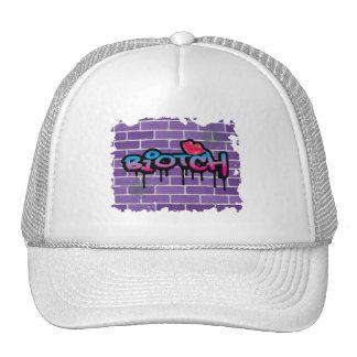 biotch graffiti design cap