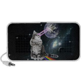 Bioworld Laser Eyes Space Cat Laptop Speaker