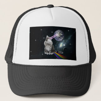 Bioworld Laser Eyes Space Cat Trucker Hat