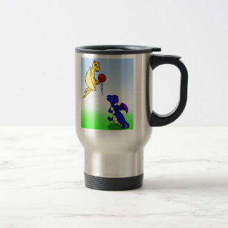 Bip and Wes play football Stainless Steel Travel Mug