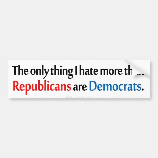 Bipartisan Hatred Bumper Sticker