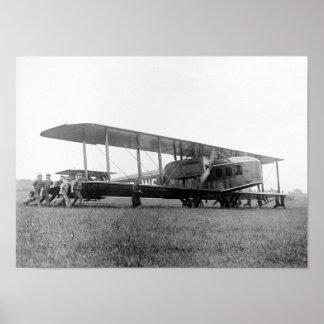 Biplane Airliner, 1919 Poster