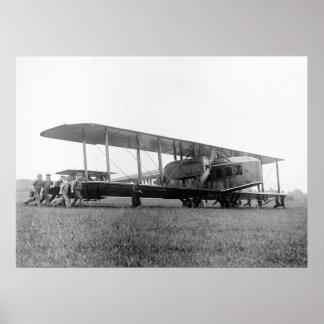 Biplane Airliner 1919 Print