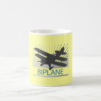 Biplane Airplane Basic White Mug